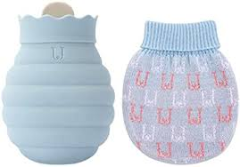 JORDAN&JUDY Hot Water Bottle with Knit Cover, BPA Free <b>Silicone</b> ...