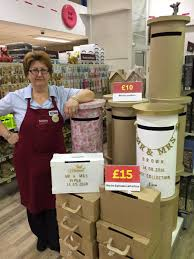 How To Decorate A Wedding Post Box Hobbycraft Greenford on Twitter Vera's been busy decorating 50