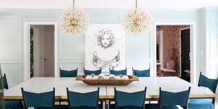 Dining room lighting fixtures ideas Rectangular Dining Room Lighting Ideas Elle Decor 26 Best Dining Room Light Fixtures Chandelier Pendant Lighting