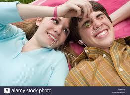 Teen couple fooling around