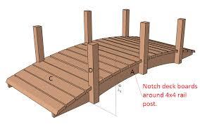 arched garden bridge plans d