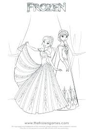 Disney Princess Coloring Pages Frozen Anna Coloring Page And