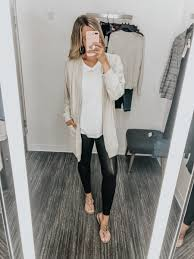 nordstrom anniversary casual style spanx faux leather leggings bp white tee long fall mom style comfy
