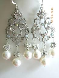 marvelous cream chandelier crystal and pearl vintage style earrings photo design