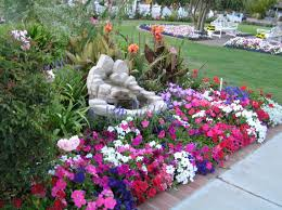 ... Fountain With Flowers Beautiful Gardens Flowers & Ideas Pinterest ...