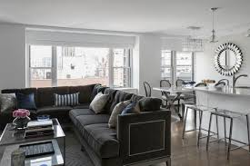 contemporary gray living room furniture. Plain Room Stunning Sectional Sofa In Small Living Room 5 1420756184693   Charming  Intended Contemporary Gray Furniture N