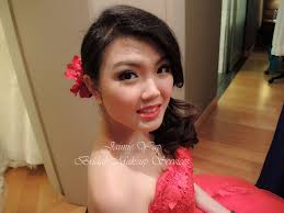 bride makeup and hairstyling for wedding dinner 1