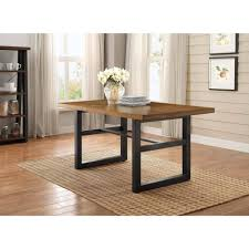 better homes and gardens mercer dining table vine oak finish from walmart dining room plete furniture
