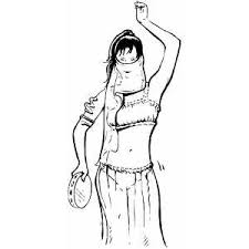 Small Picture Belly Dancer Coloring Page