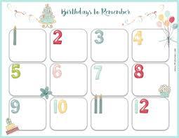 Microsoft Free Calendar Template Birthday Calendar Template Free Microsoft Word
