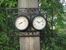 garden clock. Garden Clock And Thermometer T