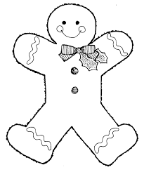 Gingerbread Man Coloring Pages 5 Christmas Clip Art Clipart
