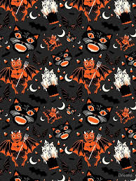 Halloween Pattern Awesome Vintage Halloween Pattern ALine Dress By Brieana Redbubble