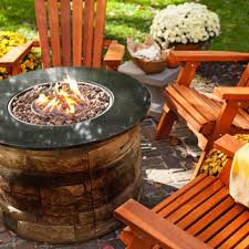 patio furniture with fire pit. Unique Patio A Patio Set With A Propane Fueled Fire Pit And Patio Furniture With Fire Pit E