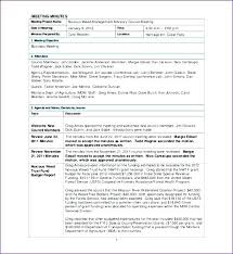 Contemporary Meeting Minutes Template Sample Festooning - Resume ...