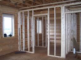 Interior wall framing 27 th log home and window sweet babolpress