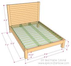 diy bed frames plans diy frame and wood headboard a piece of rainbow