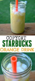 diy starbucks orange drink