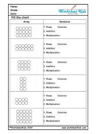 multiplication arrays worksheets for