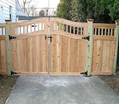 wood fence driveway gate. Brilliant Fence Wooden Fence Gates Designs  Custom Arched Good Neighbor Wood Fence And Gate  By Elyria Intended Driveway E