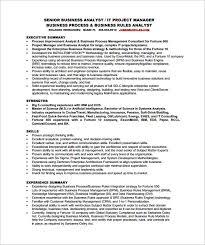 Free Business Resume Template Impressive Sample Senior Business Analyst Resumes Yelommyphonecompanyco