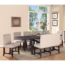 small rectangular kitchen table luxury modus yosemite 8 piece rectangular dining table set with upholstered