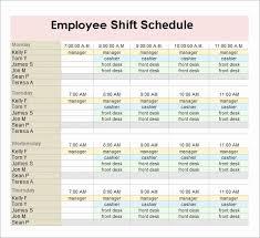 Work Shift Scheduling Employee Shift Scheduling Excel For 13 Employee Schedule