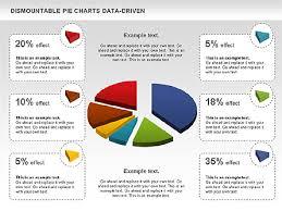 Pie Chart Powerpoint Dismountable Pie Chart Data Driven Presentation Template