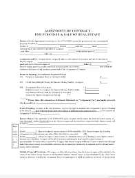 Assignment Of Contract Sample Printable Assignment Of Contract Form Sample Real Estate 3