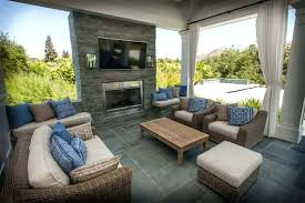 covered patio with fireplace a and outdoor screened porch cost