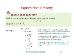 square root property example