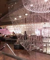 the chandelier inside the lounge area
