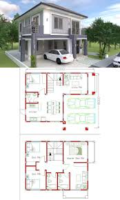 Four Bedroom Classic Two Storey Concept | Model house plan, House plan  gallery, Architectural house plans