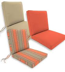 Deluxe Sunbrella™ Seat Back Cushions with ties top quality all
