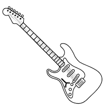 electric guitar coloring page coloring book for guitar coloring pages