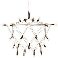 patrick townsend orbit bronze chandelier at 1stdibs