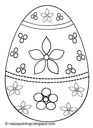 Small Picture Easter egg coloring page for kids egg painting model