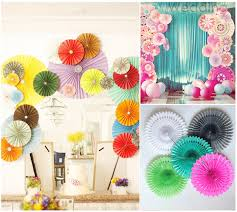 10pcs lot 10 inch 25cm tissue paper fan decoration kids birthday party supplies wedding background