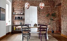 homey design shelves on brick wall 10