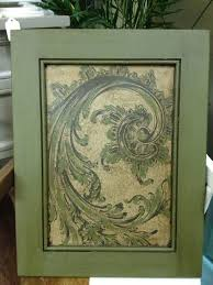 Decoupage Kitchen Cabinets Cabinet Door Makeover With Chalk Paintar In Olive Color With