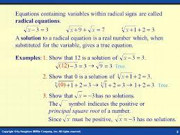 solving radical equations 2 1