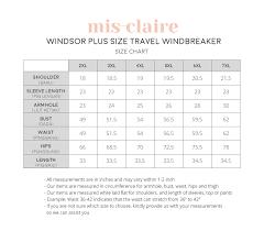 Windsor Plus Size Travel Windbreaker White