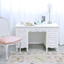 shabby chic office desk. Shabby Cottage Chic 6 Drawer Writing Desk White French Vintage Style Office Furniture