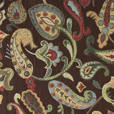Small Picture Blue Red Green Yellow Brown Paisley Contemporary Upholstery