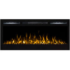 lexington 35 inch built in ventless heater recessed wall mounted electric fireplace pebble