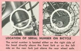 Schwinn Lightweight Data Book Serial Numbers