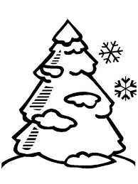 Small Picture Pine Tree Covered with Winter Season Snow Coloring Page Color Luna