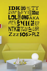 text wall art stickers