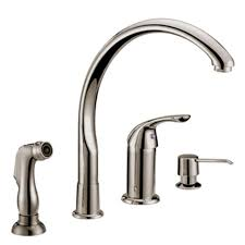two handle kitchen faucet with side spray faucets