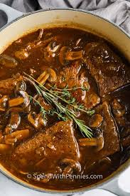 round steak and mushrooms spend with